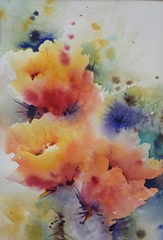 Prickly Blooms by Yvonne Joyner Watercolor ~ 14 in. including mat x 11 in. including mat