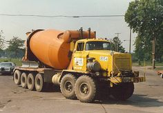 OLD school FWD mixer truck