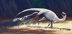 Eucoelophysis attacked by Redondasaurus.