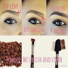 Perfect brows with simple steps! Like me on facebook for more beauty tips! Bellissima You or visit my website and acquire the look ;) www.youniqueproducts.com/bellissimayou