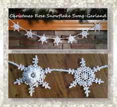 "I added ""Christmas Rose Snowflake Swag-Garland "" to an #inlinkz linkup!http://www.crochetmemories.com/blog/christmas-rose-snowflake-swag-garland/"