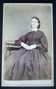 Civil War Era 1865 CDV Photograph and Tax Stamp of South Strafford Vermont Woman | eBay