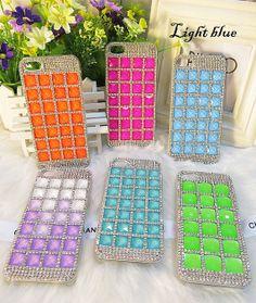 DIY bling iphone 5 case,iphone 4 case,iphone 4s case ,Glaring rhinestone samsung galaxy s3/s4/N7100 case,Bling crystal handmade