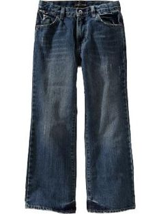Boys Boot-Cut Jeans - A classic five-pocket pair thats perfect for school or play. Trendy new washes and contrast topstitching help create that look he loves.