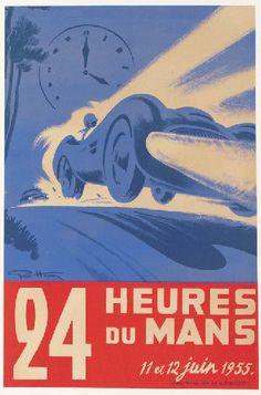 24 heures du mans - 1955 - (Geo Ham = Georges Hamel) -