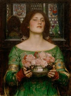 John William Waterhouse (English Pre-Raphaelite painter) 1849 - 1917 Gather Ye Rosebuds While Ye May, 1908 oil on canvas cm × cm. John William Waterhouse, William Turner, Pre Raphaelite Paintings, Pre Raphaelite Brotherhood, Portraits, Oil Painting Reproductions, Classical Art, Fine Art, Rose Buds