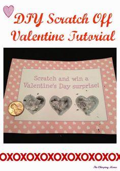 DIY Scratch Off Valentine Tutorial || The Chirping Moms