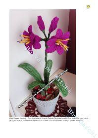 Horgolásról csak magyarul.: AMARILLISZ Crochet Bouquet, Crochet Flowers, Planter Pots, Hand Crafts, Log Projects, Horsehair, Amigurumi, Crafts, Crocheted Flowers