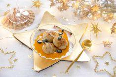Crème de butternut aux noix de saint-jacques rôties Coquille Saint Jacques, Dairy, Cheese, Dinner, Christmas, Blog, Cooker Recipes, Christmas Baking, Christmas Parties
