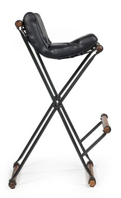 1stdibs.com   Set of 4 Campaign Bar Stools by Cleo Baldon for Terra Furniture