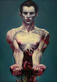 "Milan Nenezic; Painting, ""The End"" (Representation of spiritual decay through flesh)"