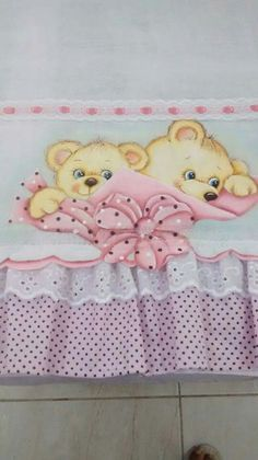 Fraldinha da Nety Tole Painting, Fabric Painting, Tatty Teddy, Teddy Bear, Pictures To Paint, Diy Cards, Animal Drawings, Art For Kids, Coloring Books