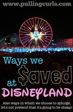 Here's a girl walking around in a 200 dollar bippity boppity boo look, while my 5 year old walks around in a 2 dollar clearance Walmart Minnie T-shirt, eating string cheese we bought from home. EVERYONE spends their money in different ways. This post is going to show you ways to save at Disneyland, but also share some ways we chose to splurge, and if we found it to be worth it. Interested in Disneyland? Check out all my Disneyland posts here! Some of the links within this post are…