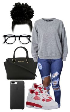 """goin to the movies"" by mariahiscute ❤ liked on Polyvore featuring MICHAEL Michael Kors and BLK DNM"
