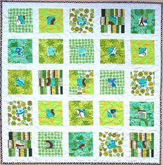 """green, green, green"" quilt from the sampaguita quilts blog"
