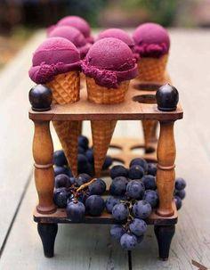 Helado de vino tinto ( Red Wine Icecream)