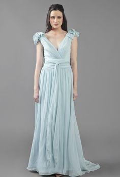 Colorful Wedding Gowns for Older Brides. #weddings #dresses #color