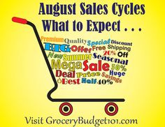 Month-by-month sales cycles. Learn which months to stock up on your favorite items, when to buy it, when to wait and what's hot! GroceryBudget101.com