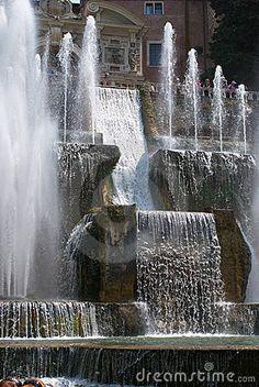 Fountains in Tivoli by Dimsle, via Dreamstime
