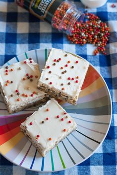 Cake Batter Blondie Bars