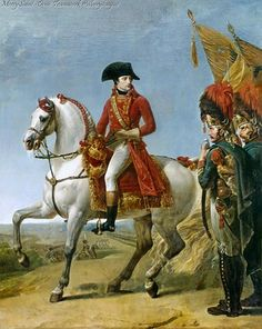 Napoleon Reviewing his Troops after the Battle of Marengo, 14 Jun 1800 by Jean-Antoine Gros (1803).