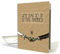 Zombie themed Engagement Announcement card (1062089) by Corrie Kuipers