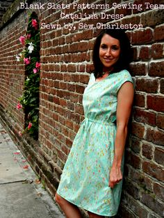 Catalina dress by Blank Slate Patterns sewn by Sew Charleston