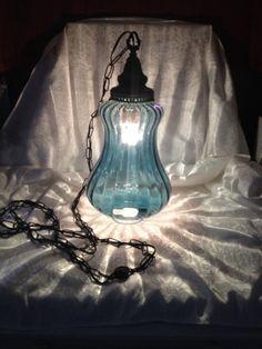 Vintage Hanging Swag Lamp by nikkishabbychic on Etsy, $275.00