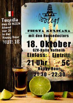 Plakatdesign für Qoolegg (Eine Party die immer von der Oberstufe des Regiomontanus Gymnasiums organisiert wird): Fiesta Mexicana
