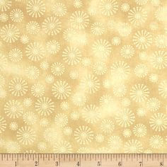 Santa's Here Snowflake Toast from @fabricdotcom  Designed by Nancy Halvorsen for Benartex, this cotton print fabric is perfect for quilting, apparel and home decor accents. Colors include white and shades of tan.
