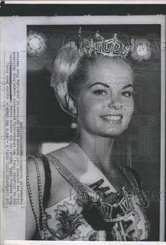 September 7, 1968:  Judith Anne Ford of Belvidere, Illinois, moments after being crowned Miss America 1969.  She had completed one year of higher education in Louisiana and would later enter the University of Illinois.