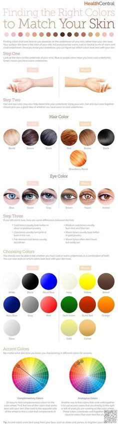2. How to Find the #Right Colors to #Match Your Skin - Dewy Skin Trend: 29 #Infographics to Help You Highlight Your Way…
