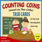 There are forty (40) task cards in this set that you can use to practice or review your students on how to count coins with amounts less than a dol...