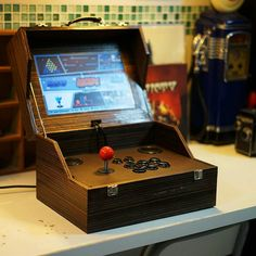 Arcade Bartop, Arcade Table, Arcade Console, Arcade Room, Mini Arcade Machine, Diy Arcade Cabinet, Atari Video Games, Retro Arcade Games, Arcade Stick