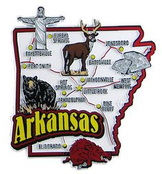 Arkansas State Map Postcard Travel Posters Arkansas Usa And - Arkansas usa map