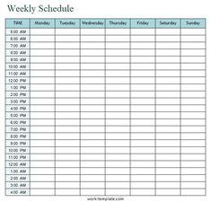 Weekly Schedule Planner, Weekly Planner Template, Schedule Printable, Schedule Templates, Printable Planner, Free Printable, Homework Planner, Study Schedule, Study Planner