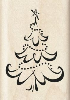Inkadinkado Calligraphy Christmas Tree Wood Stamp (link doesn't seem to work, but want to save it to look for it later) Christmas Drawing, Christmas Paintings, Christmas Art, Christmas Projects, All Things Christmas, Winter Christmas, Holiday Crafts, Christmas Decorations, Christmas Ornaments