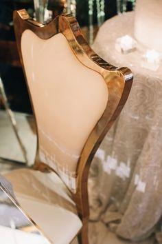 Metallic Reception Chairs | Glam & Dramatic Wedding Inspiration from Aisle Society | Erika Layne Photography