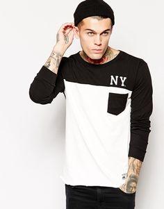 Camiseta de manga larga con bolsillo New York Laval de Majestic