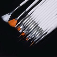 15 개 네일 아트 디자인 페인트 도트 그리기 펜 폴란드어 브러쉬 DIY 장식 도구 세트 전문 네일 장비 그리기 도구