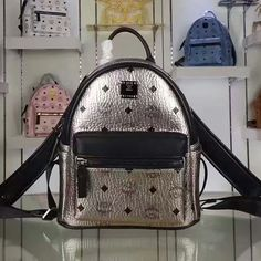 3c9899d32f776 MCM Medium Stark Backpack In Silver