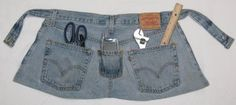 old jeans to work apron