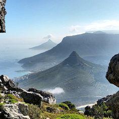 Window onto Kleinleeukoppie, Judas Peak, Lion's Head and Table Mountain - Cape Town - (captured by @bruce.templeton.547 / capetownmagazine)