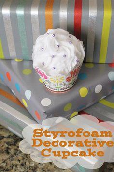 styrofoam decorative cupcake
