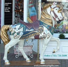 Life Size horses carousel for sale for display, props room party decoration order 732-714-1600