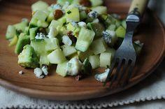 Sweet and savory green apple salad