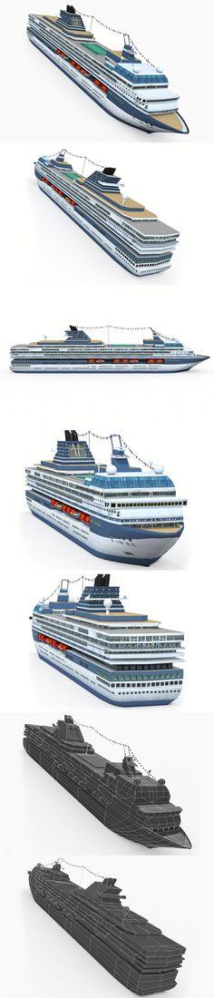 Cruise Ship. 3D Vehicles