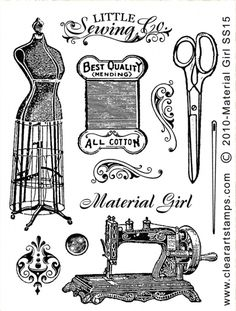sewing related vintage Printables Sewing Art, Sewing Rooms, Sewing Crafts, Antique Sewing Machines, Vintage Sewing Patterns, Etiquette Vintage, Sewing Studio, Tampons, Vintage Ephemera