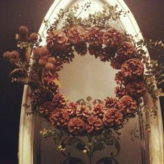 Fall & Winter Wreath -made with simple grapevine wreath, pine cones & twigs