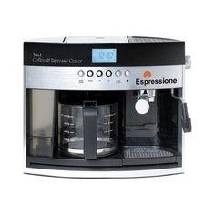 Combination Programmable Espresso Coffee Maker Beverage Frothing Attachment Brew #Espressione